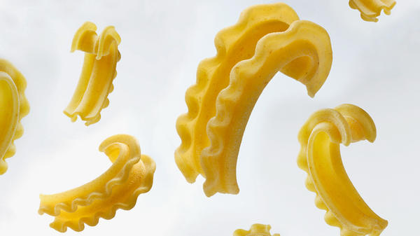 Meet cascatelli, a pasta shape created by Dan Pashman, host of the food podcast <em>The Sporkful</em>.