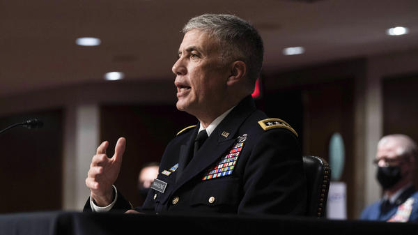 """Army Gen. Paul Nakasone, director of the National Security Agency, says the U.S. has a """"blind spot"""" when it comes to foreign intelligence services that effectively carry out cyberspying from inside the U.S."""