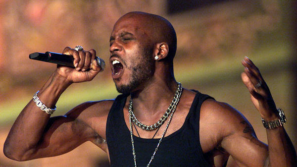 DMX performs at The Source Hip-Hop Music Awards in 2001 in Miami Beach, Fla. The rapper died Friday at age 50.
