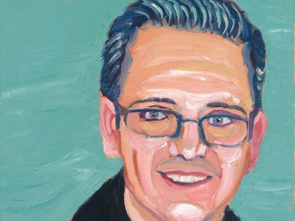 A portrait of Carlos Mendez, by former President George W. Bush
