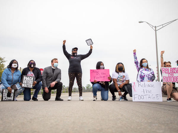 Protestors take to the streets on Saturday calling for the release of bodycam footage of the police killing of Andrew Brown Jr. in Elizabeth City, N.C.