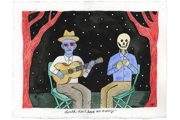 A musician plays a duet with death in 'Death Don't Have No Mercy.'