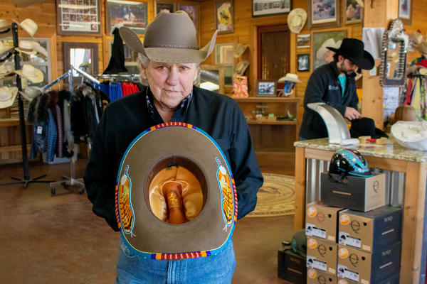 """Lavonna """"Shorty"""" Koger at her shop, Shorty's Caboy Hattery, in Oklahoma City, Okla."""