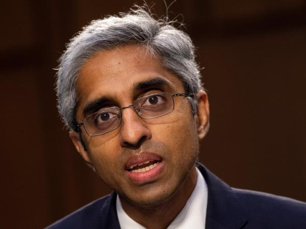 Vivek Murthy testifies at his Senate confirmation hearing to be surgeon general on Feb. 25. Murthy tells NPR there's more work to do in convincing people, especially in rural communities, to get vaccinated against COVID-19.