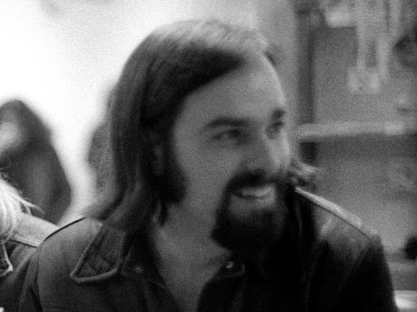 Ed Ward, photographed in the <em>Rolling Stone</em> office in December, 1970 in San Francisco.