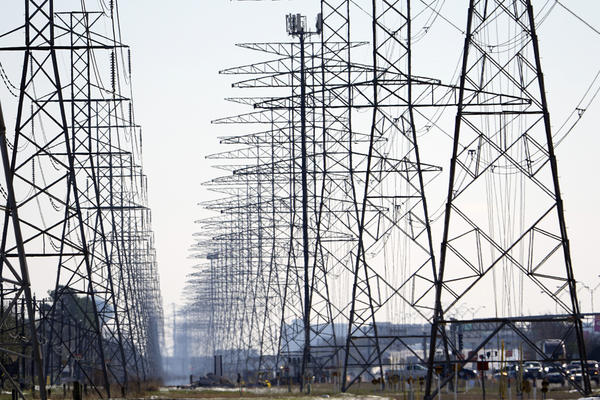 Power lines in Houston. (David J. Phillip/AP/File)