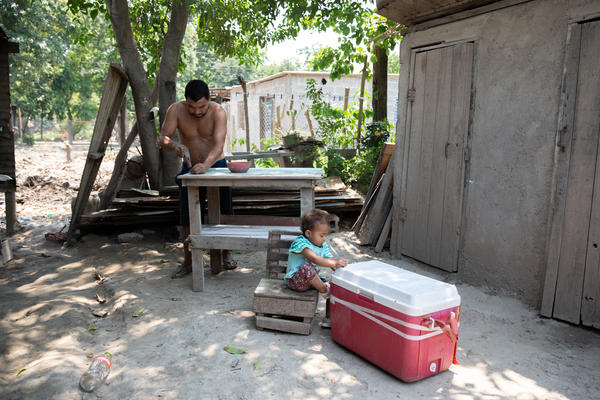 Since returning to the ruined home, Adan Ramos has spent the weeks rebuilding and salvaging anything he could. After the twin hurricanes Eta and Iota, the Ramos family was left with nothing.