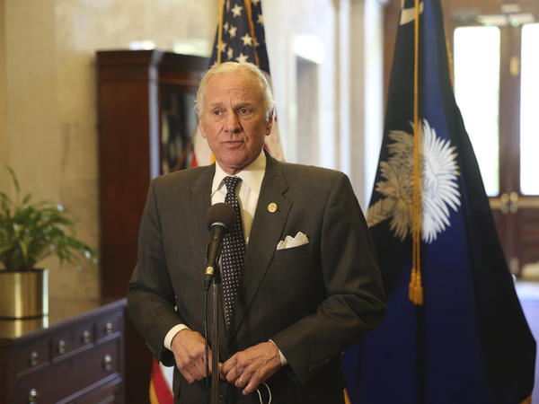 South Carolina Gov. Henry McMaster addresses reporters at a news conference last month in Columbia. McMaster issued a new mandate on Tuesday banning mask mandates and so-called vaccine passports.