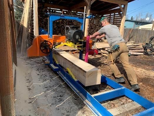 Anchorage, Alaska, resident Hans Dow built his own sawmill and began milling his own boards after lumber prices skyrocketed over the past year.
