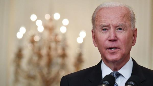 President Biden delivers remarks in the White House Monday on the COVID-19 response and the vaccination program.