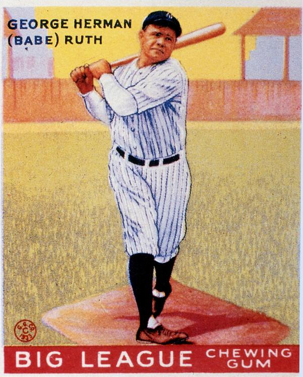 """In addition to the rare 1933 Babe Ruth card, Memory Lane Inc. says the sale will feature more than 1,000 items including """"some of the finest known examples of other Hall of Fame players including Ty Cobb, Lou Gehrig, Honus Wagner, Ted Williams and Cy Young, as well as World Series program books dating back to 1903."""""""