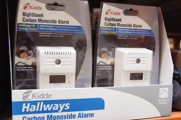 Carbon Monoxide alarms are displayed in a Home Depot store in Illinois. Although there were no deaths from Hurricane Laura, 28 people died in Louisiana and almost all of them once the hurricane passed. The storm left communities without power for weeks. Fourteen of the deaths were caused by carbon monoxide poisoning from unsafe use of emergency generators.