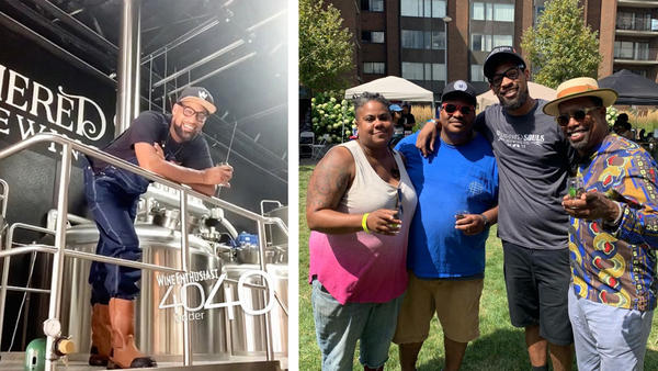 """Marcus Baskerville, second from the right, at <a href=""""https://www.instagram.com/blackbrewculture/?hl=en"""">Black Brew Culture</a>'s Fresh Fest, August 11, 2019."""