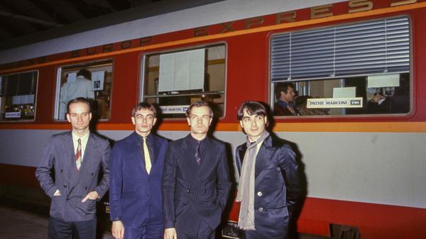 Kraftwerk, photographed in 1977. From left: Florian Schneider, Karl Bartos, Ralf Hütter and Wolfgang Flür.