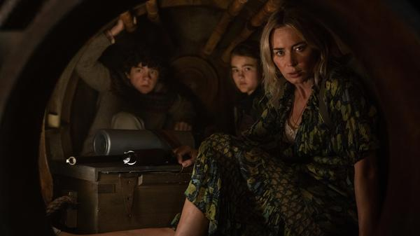 Marcus (Noah Jupe), Regan (Millicent Simmonds) and Evelyn (Emily Blunt) brave the unknown in <em>A Quiet Place Part II.</em>