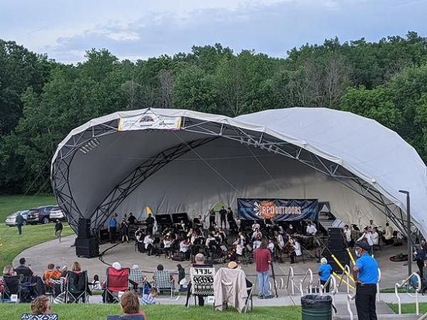The Rochester Philharmonic Orchestra performed its first live concert in more than a year at Perinton Center Stage Amphitheater on Thursday, June 3, 2021.