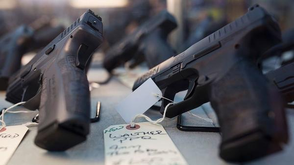 """The Justice Department took a step toward making it easier for states to implement what are known as """"red flag laws"""" on Monday, sharing a model for how states could temporarily remove guns from people deemed dangerous to themselves or others."""