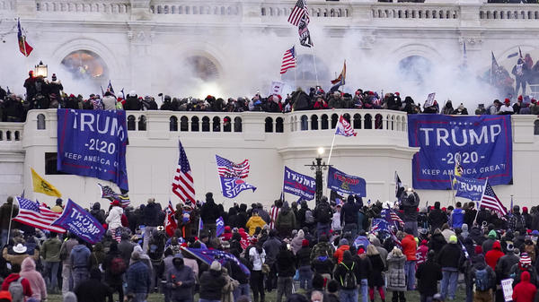 Violent rioters supporting then-President Donald Trump storm the U.S. Capitol on Jan. 6. Capitol Police had seen information from a pro-Trump website that encouraged demonstrators to bring weapons to subdue members of Congress and police.