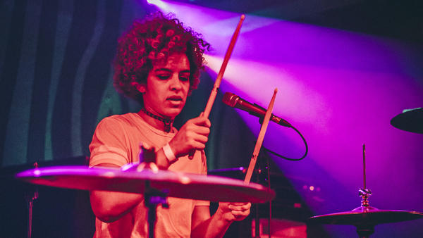Kathy Foster is a mainstay in the Portland music scene, having been a bassist for The Thermals and now the drummer for local punks Hurry Up.