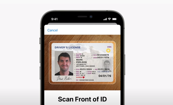 Apple announced this week at its Worldwide Developer Conference a new feature in its forthcoming operating system, iOS 15, that will digitize state-issued licenses and ID cards.