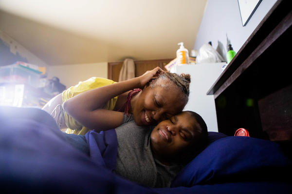 Chrystal Bell lives in New York City with her son Caleb, who is deaf, blind and nonverbal. When the pandemic closed schools, he lost access to tactile special education that he needs in order to learn.