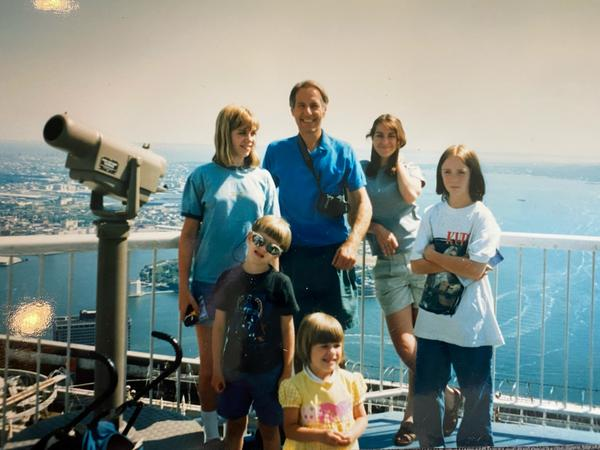 Scientist John Zachara, center, with family in the 1990's.