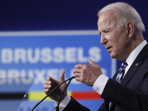 President Biden is set to leave Brussels on Tuesday for Geneva, the last leg of a trip where he sought to mend fences with allies and take a tougher stance on Moscow and Beijing.