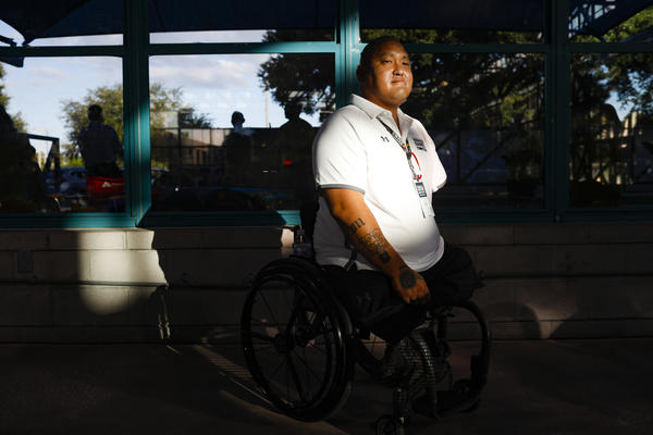 U.S. Army veteran Staff Sgt. Matt Lammers is one of some 60 vets who lost three or four limbs, out of 2.7 million who served in the wars in Iraq and Afghanistan.