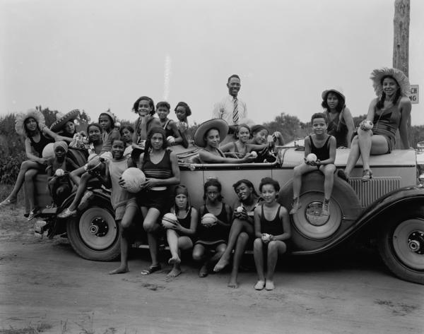 YWCA camp for girls. Highland Beach, Maryland, 1930. These photos are from the Scurlock Studio Collection at the Smithsonian National Museum of American History. <strong>Read more</strong> about the photos at the end of this story.