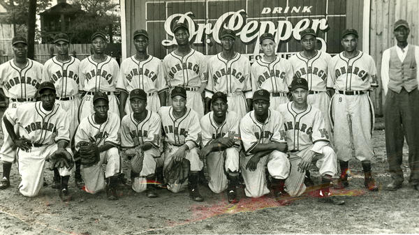 The Kansas City Monarchs team of 1948. Jackie Robinson played for the storied Negro Leagues franchise before breaking MLB's color barrier in 1947.