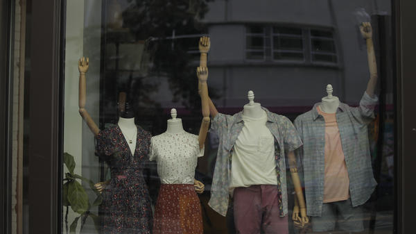 Mannequins in a clothing shop are posed to show solidarity with the Black Lives Matter movement on Juneteenth in Washington, D.C. The day in 1865 that the last enslaved Black people learned they had been freed under the Emancipation Proclamation is now a federal holiday.