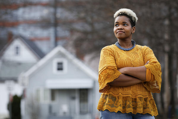 Community activist India Walton, here in December, is claiming victory over four-term Mayor Byron Brown in the Buffalo, N.Y., race. Brown did not immediately concede.