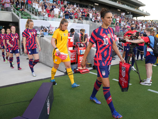 Carli Lloyd was recently recognized for 300 career caps — international games — during a match between Nigeria and the U.S. women's national team in Austin, Texas.