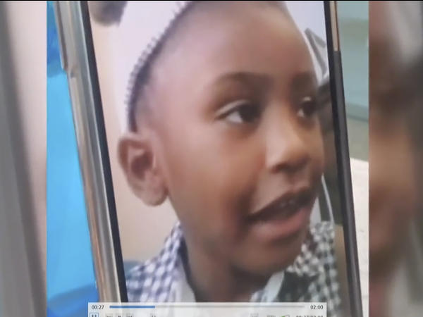 Gianna Floyd, the 7-year-old daughter of George Floyd, appears in a video played Friday during victim impact statements in the sentencing of former Minneapolis police officer Derek Chauvin in Minneapolis.