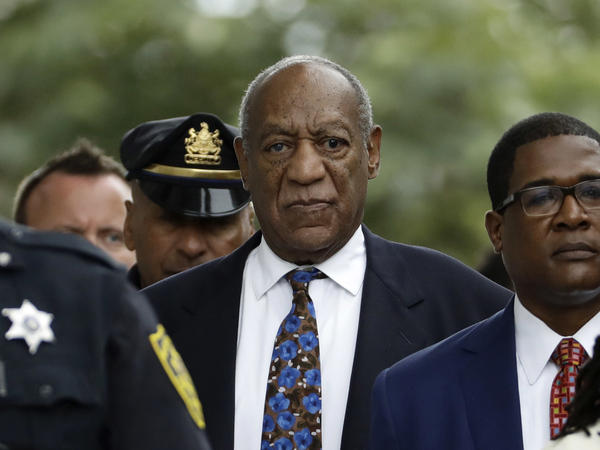 Bill Cosby departs after a sentencing hearing in 2018 at the Montgomery County Courthouse in Norristown, Pa.
