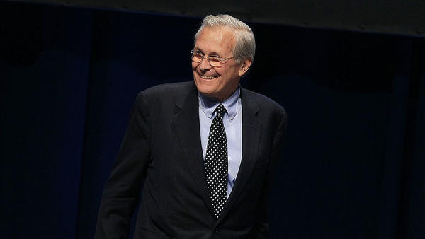 Former Secretary of Defense Donald Rumsfeld, pictured in February 2011, has died, his family announced on Wednesday.