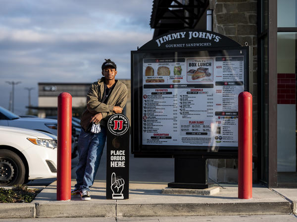 Instead of going to college this fall, Brian Williams got a job at a Jimmy John's near his home in Stafford, Texas. He says paying for college was always going to be hard, but it was even harder to justify the expense during a pandemic.