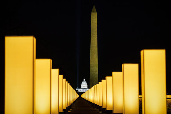 On Jan. 19, the incoming Biden administration hosted memorial to lives lost to COVID-19 at the Lincoln Memorial Reflecting Pool on the National Mall. Since then another 100,000 Americans have died.