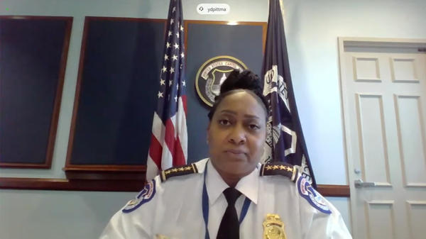 Acting U.S. Capitol Police Chief Yogananda Pittman testified on the Jan. 6 Capitol insurrection.