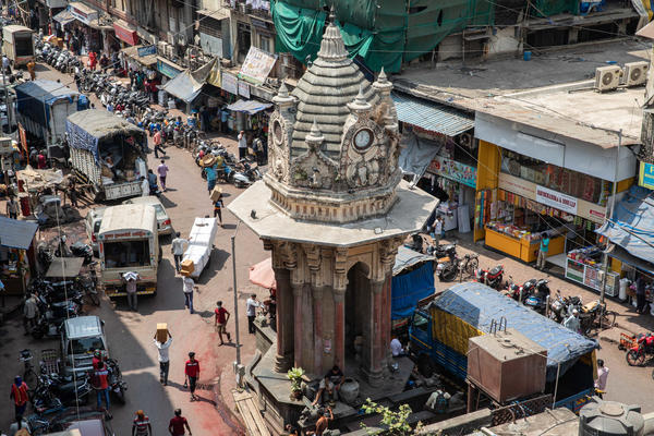 Mumbai's grand Keshavji Nayak fountain towers above the street and serves as a place of respite for thirsty passers-by. It's one of dozens of ornate fountains in the city, built during the British colonial era.