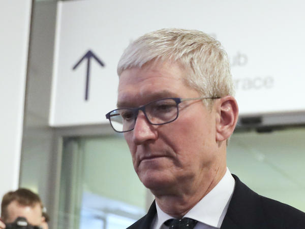 Apple CEO Tim Cook is photographed at the 2020 World Economic Forum in Davos, Switzerland. Cook will take the witness stand Friday to defend the Apple App Store against charges that it has grown into an illegal monopoly, one far more profitable than his predecessor Steve Jobs ever envisioned.