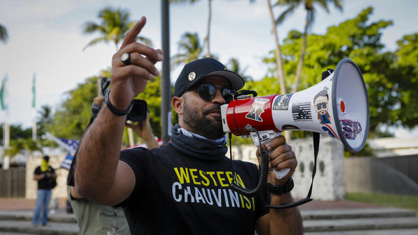 """""""My goal for this year ... was simple,"""" Proud Boys Chairman Enrique Tarrio tells NPR. """"Start getting more involved in local politics."""""""