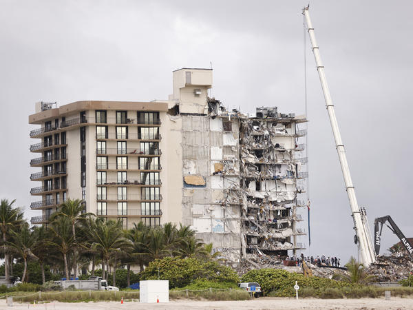 Search and rescue teams continue to look for survivors and remains this week in the partially collapsed 12-story Champlain Towers South condo building in Surfside, Fla.