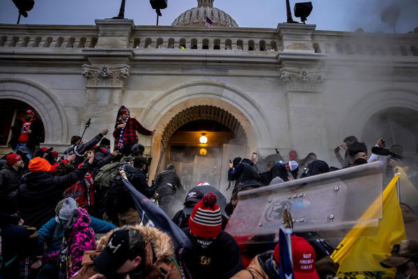 Trump supporters clash with police and security forces in an attempt to storm the U.S. Capitol on Jan. 6.