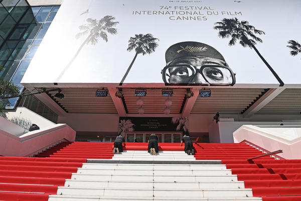 The red carpet is rolled out at the 74th annual Cannes Film Festival on July 6, 2021, in Cannes, France.