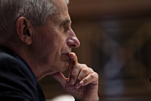 Dr. Anthony Fauci attends a Senate Appropriations Subcommittee hearing in May on Capitol Hill. Fauci says he rarely wears a mask anymore since his environment is usually restricted to vaccinated people.
