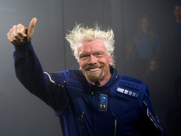 Richard Branson, seen here in 2019, will head to space on his company Virgin Galactic's Unity 22 mission.