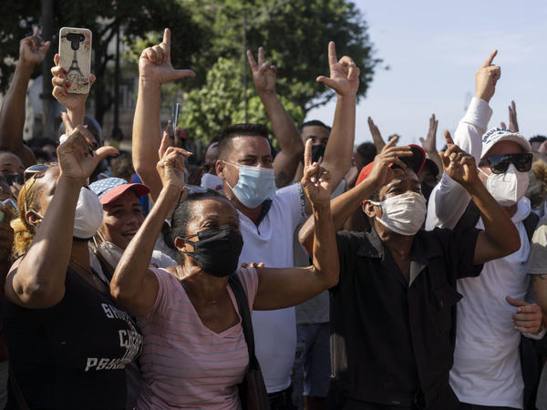 Cubalex, a U.S.-based organization of human rights lawyers, estimates about 148 anti-government protesters have been arrested, detained or disappeared since Sunday.