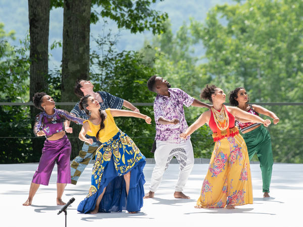 Faced with limited access to conventional stages, troupes like Contra-Tiempo are taking advantage of striking outdoor spaces at Jacob's Pillow this summer.