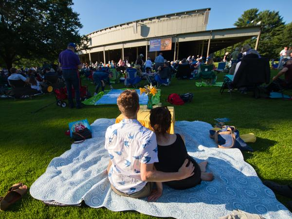 Audience members assembled on the lawn to enjoy the Boston Symphony Orchestra, newly returned to Tanglewood after last season's cancellation.